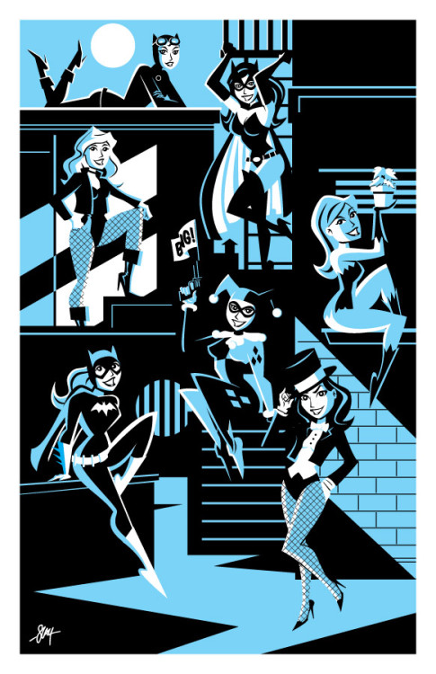 bettyfelon:  Gotham Girls Print, by calslayton