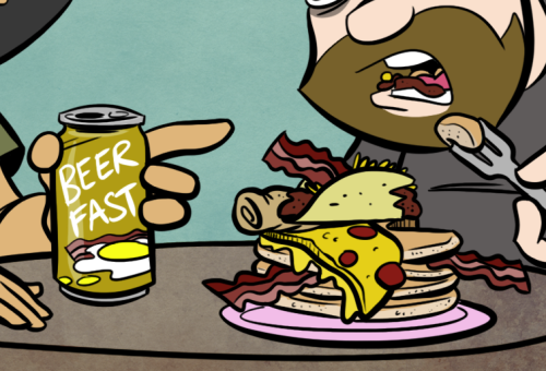 In case you wanted to see the breakfast from today's comic up close.