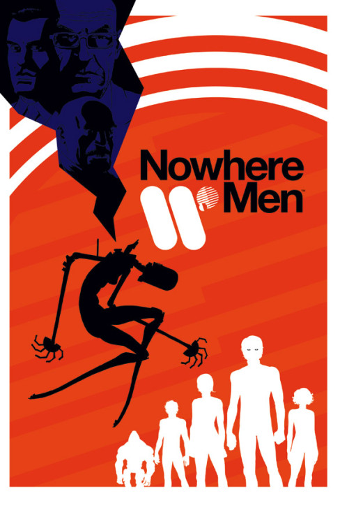 GO: Nowhere Men I might be jumping ahead here as the book hasn't been released yet, but this — what I assume is the cover for the first issue — looks incredibly promising. The promo material I've seen so far for this series is dressed in a very modern, minimal design reminiscent of Segura's The Filth covers and, obviously, American Modernism. Not a bad thing at all. Its an interesting, if slightly off-balance logo lockup, and personally I would have done more with the typography instead of just setting it in Helvetica Neue 75 because its easy to make something look good without too much effort — but nonetheless its quite refreshing to see something this unapologetic on a cover.