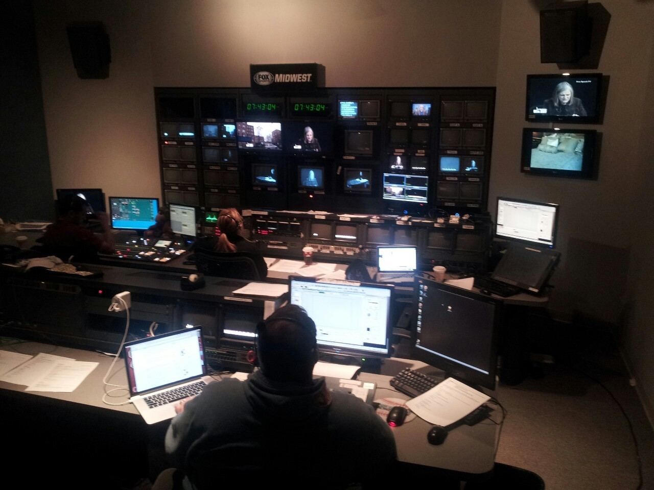 In the control room at Nine Network of Public Media, St Louis PBS