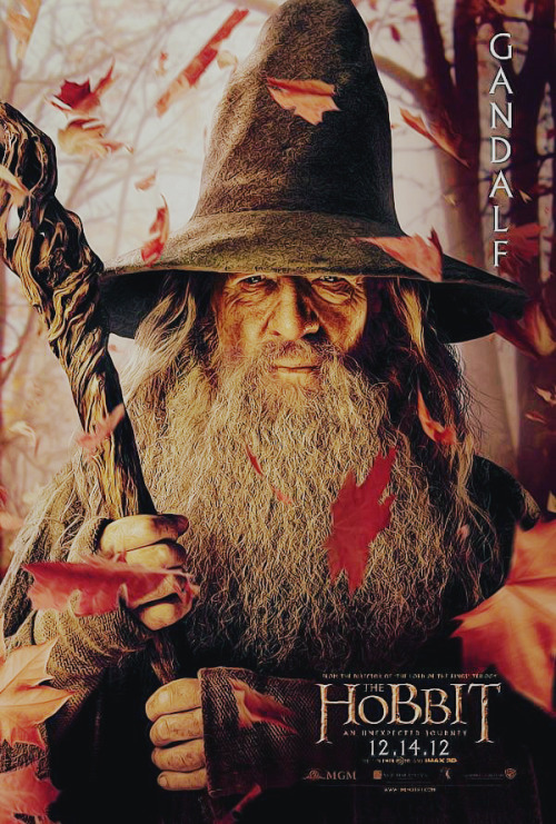 New poster of 'The Hobbit'. (Gandalf)