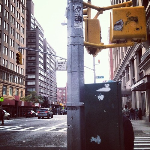 I spy a #spreadtheslug sticker. #NYC. Notice the dead traffic light 🚥? #Sandywashere