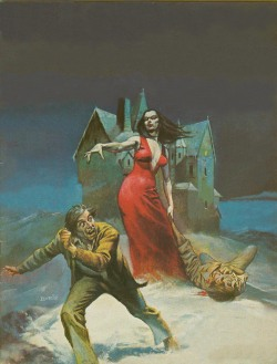 psycodialetical:  Vampire Tales #4 cover by Boris vallejo.