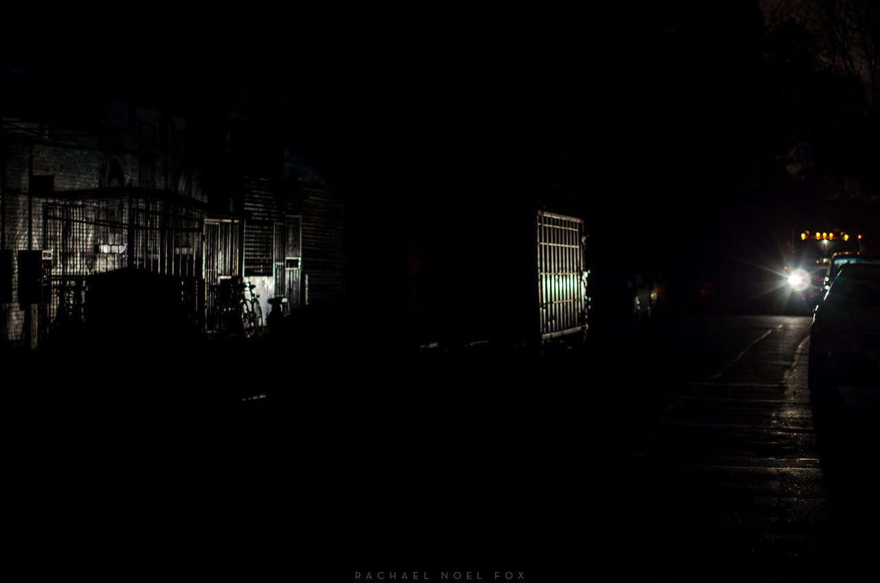 alphabet dark city  Deep in the lower east side in the midst of the blackout. November 1st, 2012 © Rachael Noel Fox