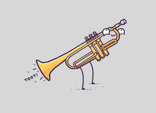 threadless:  Sound the horns, Toot! by Aaron Jay is one of our newest designs!