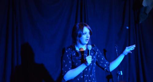Here's a photo of our wonderful headliner last night, Fern Brady. More photos of the night to come. Courtesy of The Foto Guy.