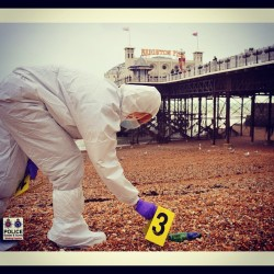 Scenes Of Crime Officer at the beach #forensics #CSI #brighton