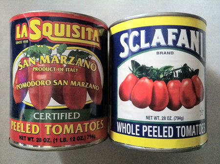 Canned Tomato Confusion Kemp Minifie clears it all up:  Do you get confused in the canned tomato aisle of the supermarket? I sure do. Canned tomatoes come in so many different forms—whole peeled tomatoes, crushed tomatoes, tomato purée, tomato sauce, stewed tomatoes, etc.—that it's enough to drive you crazy!  keep reading