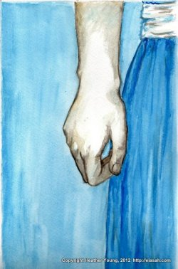Hope Deferred - a two color watercolor painting.