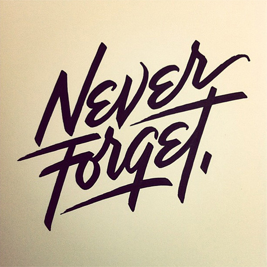 typeverything:   Typeverything.com Never Forget by Matthew Tapia.