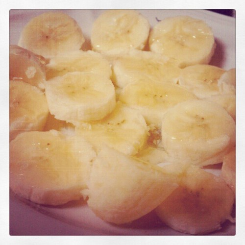 bananas & honey for breakfast #whatimeating