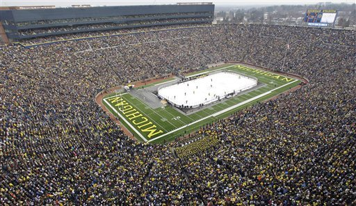 The Winter Classic, scheduled to be played at Michigan's Big House between the Red Wings and Maple Leafs, is not going to happen. Once again, everybody loses.