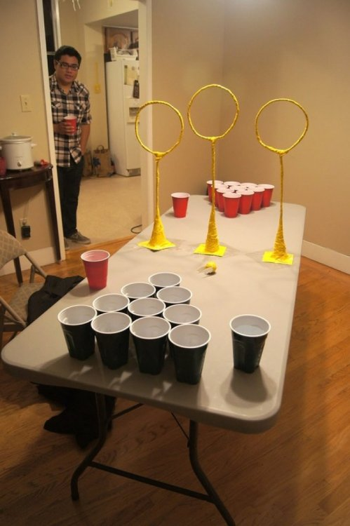 thatawkwardgirl:  collegehumor:  Quidditch Pong You're a drunk, Harry.  DYLLAN LOOK  I HAVE NEVER WANTED TO DO SOMETHING SO BAD OMG