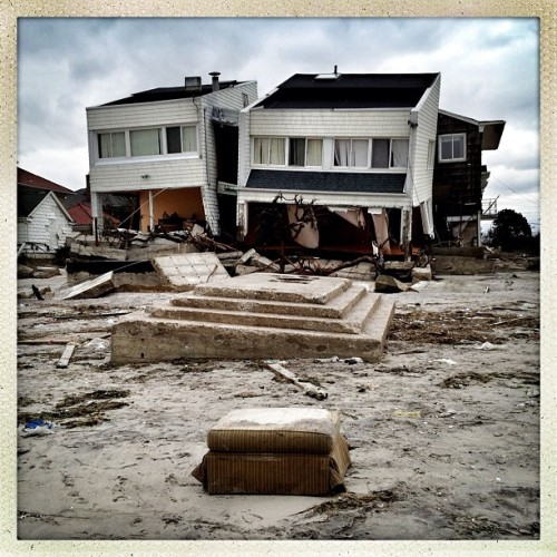 Belle Harbor, NY: Photographer Ben Lowy documents Sandy's fury along the Rockaway beachfront, where residents complain about the lack of help from the Red Cross and National Guard. Lowy will be covering the Sandy recovery efforts for Tumblr for the next week, via our editorial site, Storyboard.
