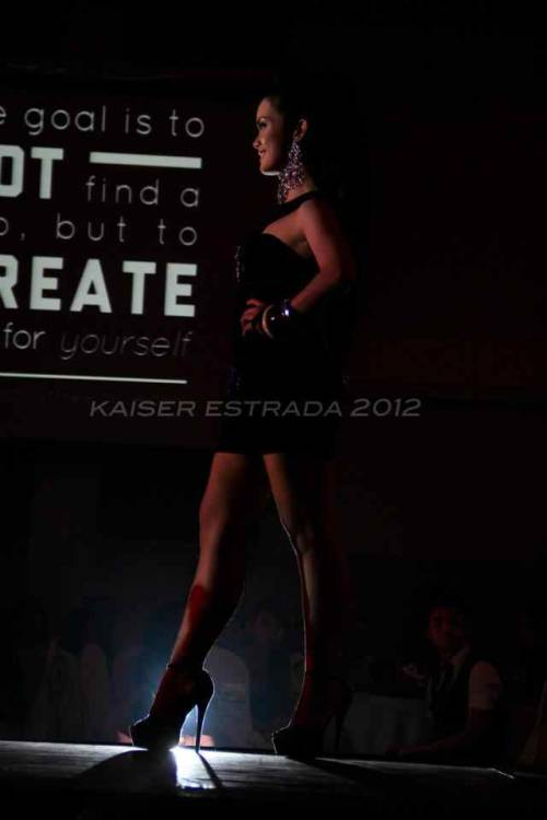 Strut your stuff in on the runway. :)   I was blessed to make it this far. To represent region 11 in the Nationals Pageant for Mr. and Ms. Ambassadors of Goodwill 2012 and garnered the rank of 3rd runner up was something to be grateful of. I never imagined myself to make it this far. Who'd have thought the simple, chubby and ordinary girl from last year would climb the ladder up to this stage? This was a memorable journey I will never forget,  (c) Kaiser Estrada