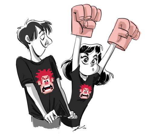 Wreck-it Ralph and Paperman are out today, you guys!!!! GO SEE 'EM!!!!!!!!