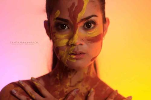 My first ever beauty shot with face paint. Fierce. :)  (c) Kaiser Estrada