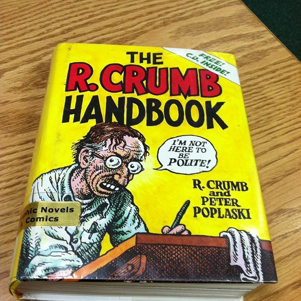 At the library #library #readingmaterial #comics #RCrumb #RobertCrumb #Crumb
