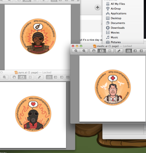 I am working on button designs for one of my favorite games