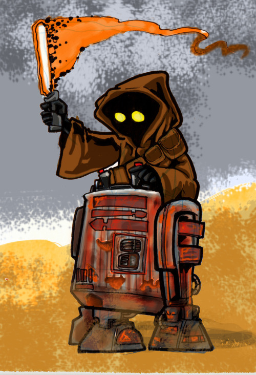 Jawa Jedis ride modified astro droids
