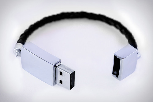 papermag:  The holy grail: the USB Bracelet sold on Etsy is cute and functional and inexpensive.