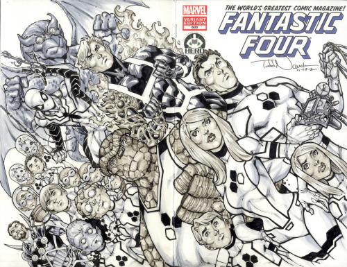 Fantastic Four and Future Foundation. A sketch cover for Hero Initiative's Fantastic Four 100 project. Drawn with Copic sketch marker and Pigma Micron markers.Learn more about COPIC markers.