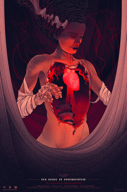 Kevin Tong's The Bride of Frankenstein poster, commissioned by Mondo, is absolutely stunning.