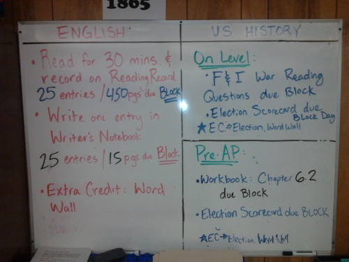 Friday 11-2-12 HW ELA Classes: Make sure you note that both RR and WNB are due on BLOCK next week MONDAY IS THE LAST TUTORIALS OF THE SIX WEEKS!