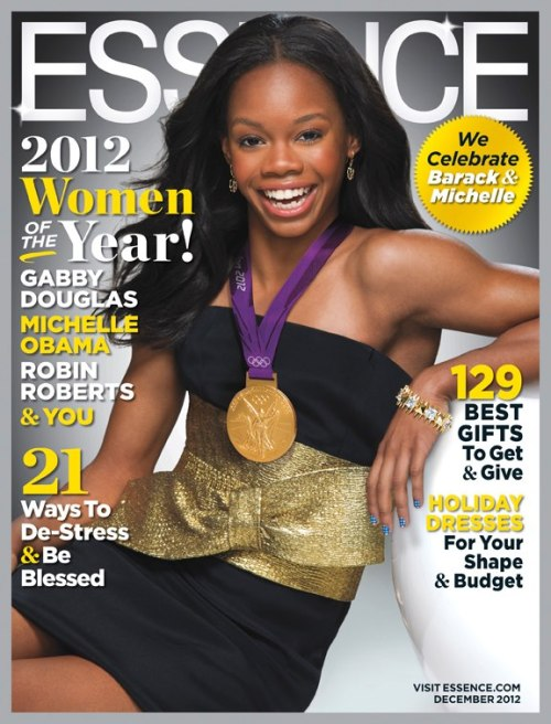 dunkinmycloud:  legallyunderage:  binnielove:  Gabby Douglas Covers The December 2012 Issue of Essence Magazine   flawless queen Gold is her colour.