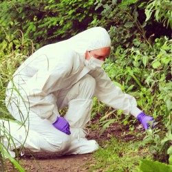 Looking for forensic evidence #forensics #CSI