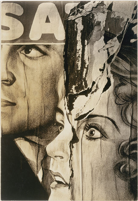 Torn Movie Poster by Walker Evans (November 3, 1903 – April 10, 1975), 1931