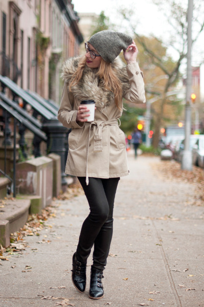 Kim's post-storm style is absolute perfection…Park Slope, Brooklyn (via the-streetstyle)