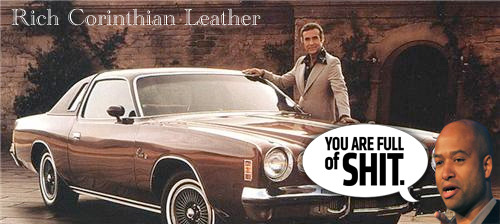"Brought to you by the company that invented ""Corinthian Leather""."