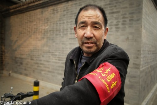 """Security volunteer"" in Beijing  by  Jordan Pouille"