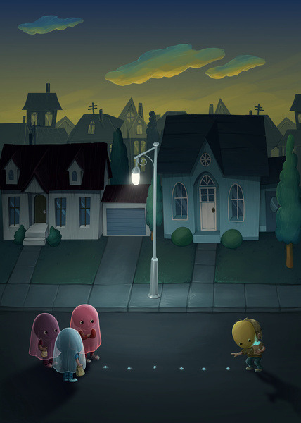 Pacman: Halloween Edition Prints available on Society6 Created by Marija Tiurina