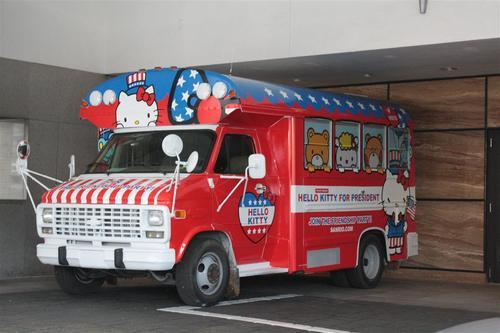 Hello Kitty for President Van