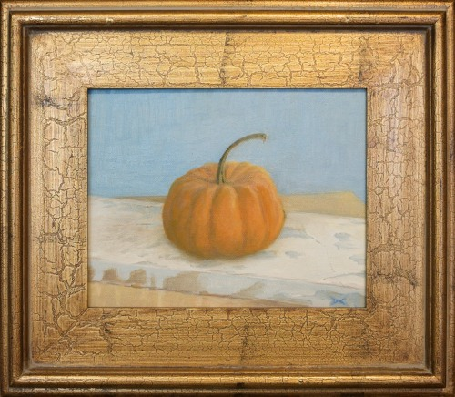 Miniature Pumpkin, oil on canvas board, 8 x 10 inches, 2012   SOLD