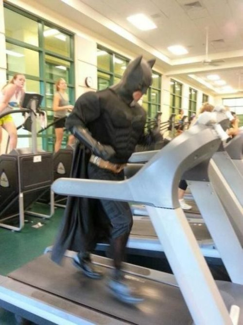 Batman Hits The Gym Bruce Wayne hates going to the gym, but Batman insists.