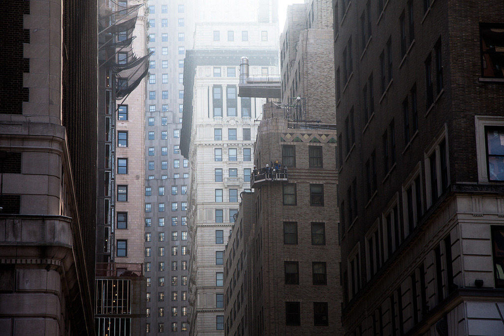 get-the-concept:  upabove; downtown (by Several seconds)