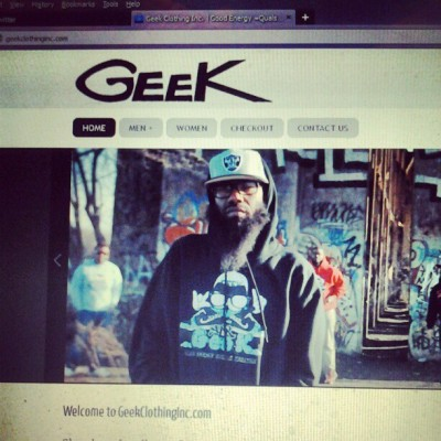 GEEKclothingInc.com «<Log on and support good people wit good energy!!! Also available at Sneaker Villa #GEEKworld