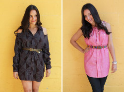 dulceetdecorus:  2 Ways to Turn a Men's Shirt into a Chic Shirt Dress