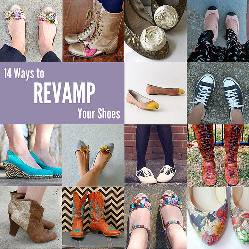 dulceetdecorus:  14 Ways to Revamp Your Shoes