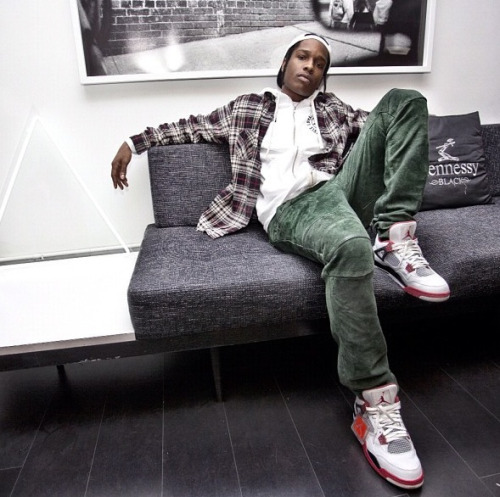 asapworldwide:  @asvpxrocky in the new office of Black Scale in SF.