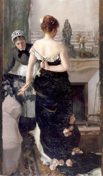 soyouthinkyoucansee:  Afterparty… Retour du bal 1880 Alfred Roll  French painter , 1846 – 1919