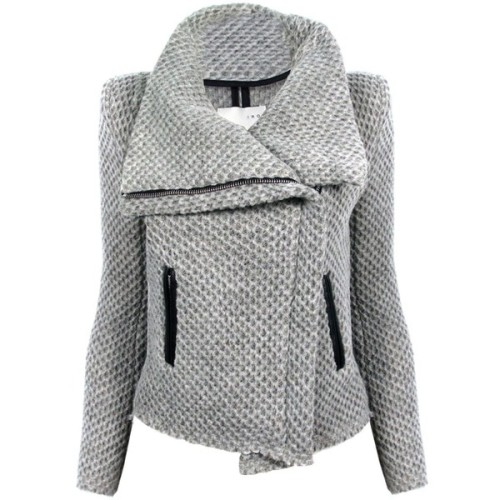 IRO jacket   ❤ liked on Polyvore (see more asymmetrical leather jackets)