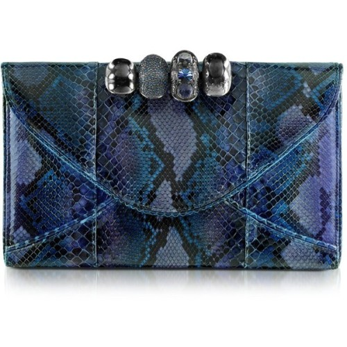 MAISON DU POSH clutch   ❤ liked on Polyvore (see more python handbags)