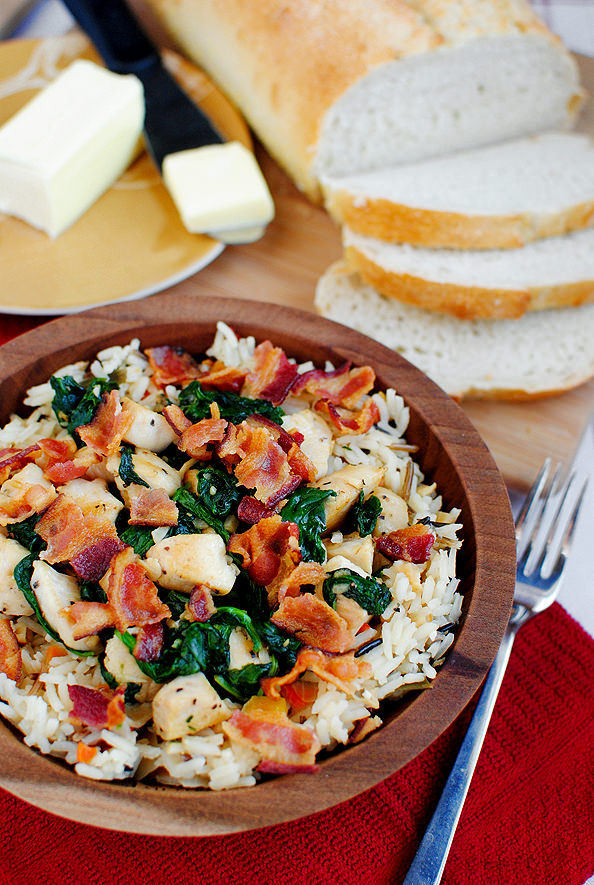 Chicken Bacon Rice Bowls