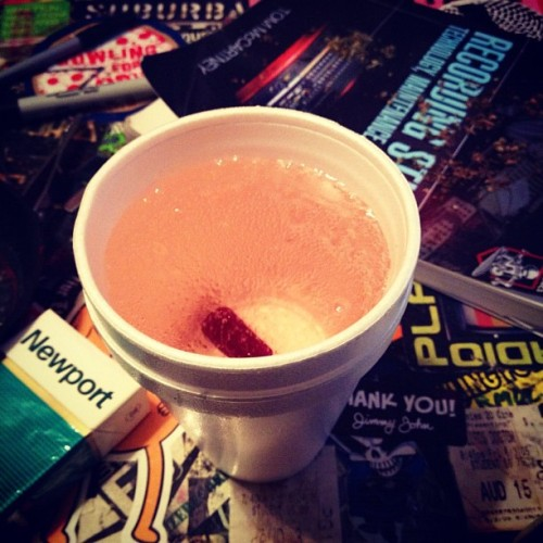 Double cup'd up. Trippy mane.
