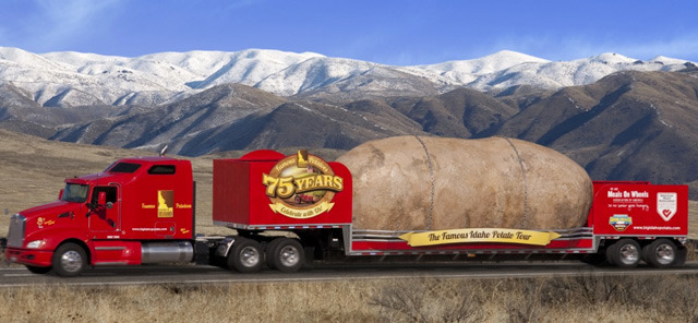 laughingsquid:  The Famous Idaho Potato Tour, The World's Largest Potato on Wheels