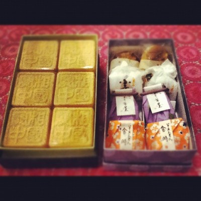 I got Japanese sweets from Japan. Thank you mam:)